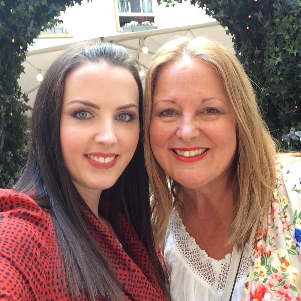 Selfie with mum at Hush Mayfair